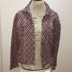 Liz Claiborne Cowgirl Red Plaid Jacket Size L